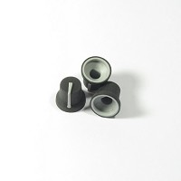 Soft Touch 6mm D-Shaft Knob - Black with Grey Indicator