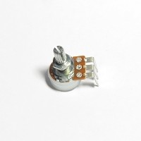 Linear (B) Potentiometers - Round Knurled Shaft - PCB Mount - Legs 90°